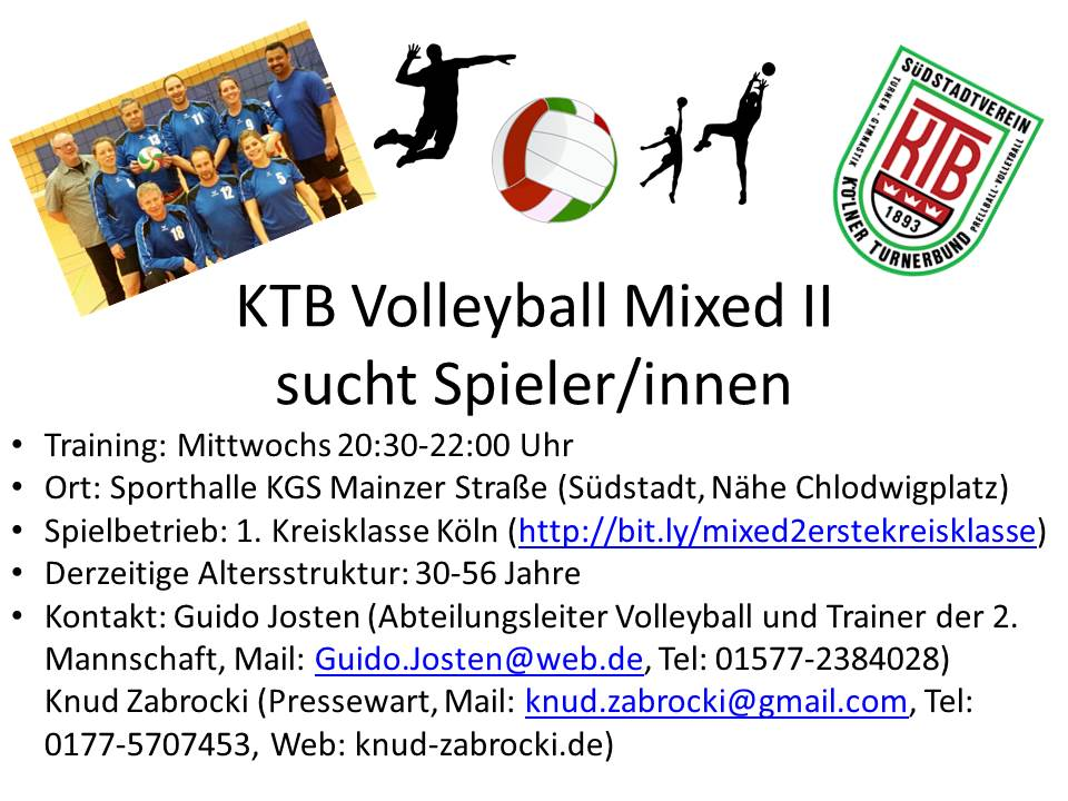 KTB Volleyball Mixed II sucht